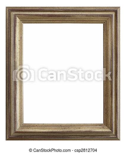 wooden photo frame - csp2812704
