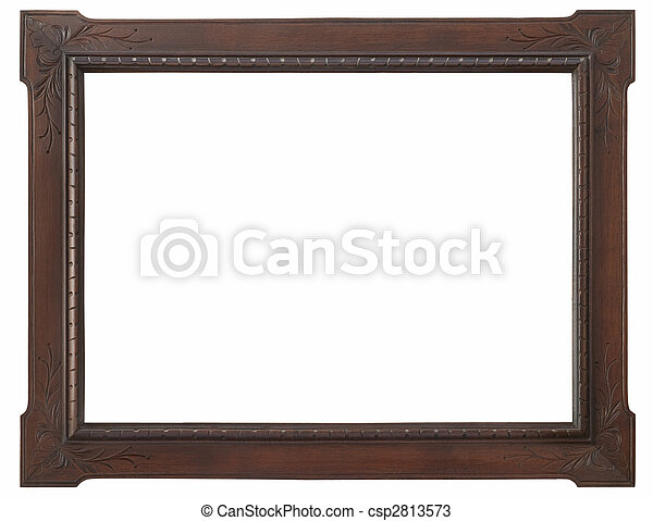 wooden photo frame - csp2813573