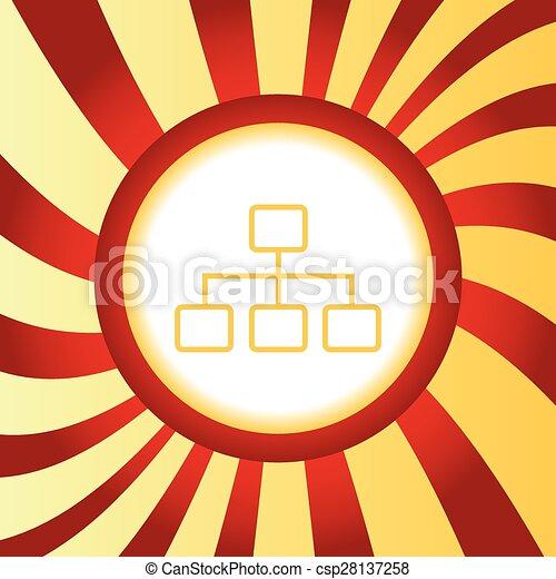 Scheme abstract icon - csp28137258