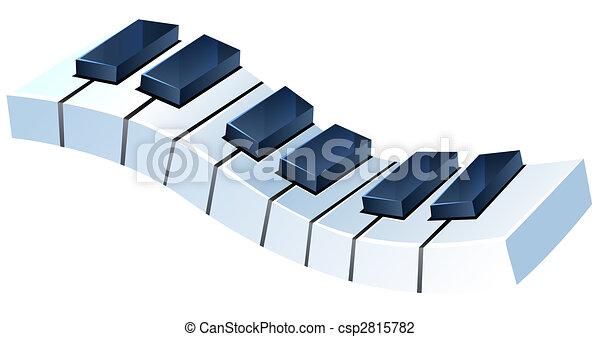 piano, teclado - csp2815782