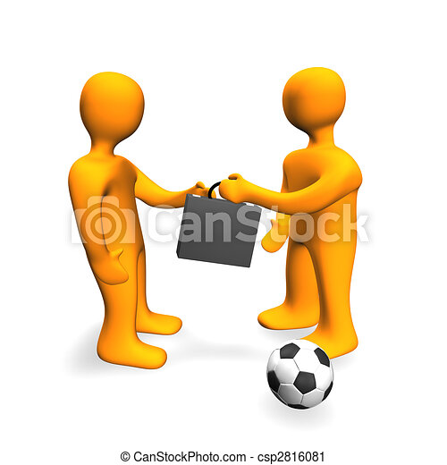 Human Bribe Deal Football 3D - csp2816081