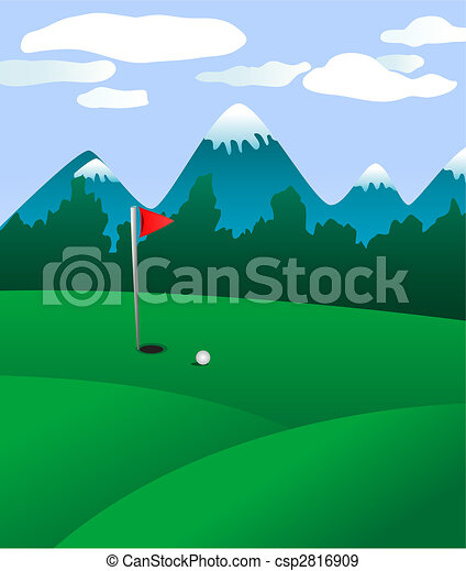 Golf field - csp2816909