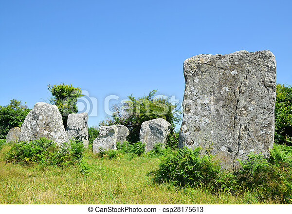 stock photography of carnac brittany france megalithic monuments menhirs in csp28175613. Black Bedroom Furniture Sets. Home Design Ideas