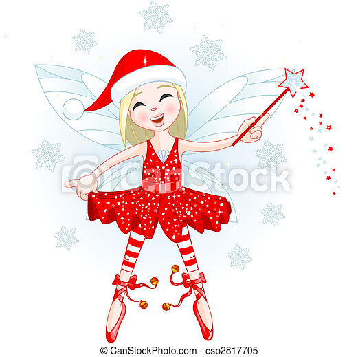 Little Christmas fairy - csp2817705