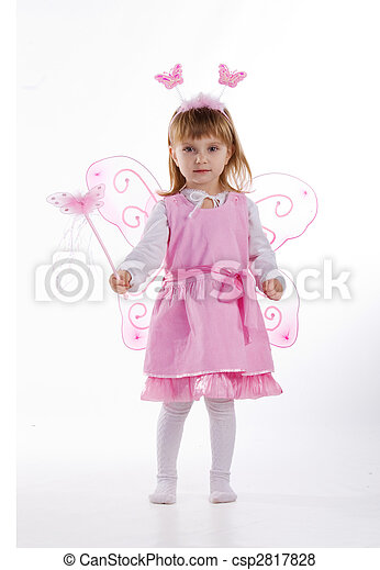 Little girl in fairy costume - csp2817828