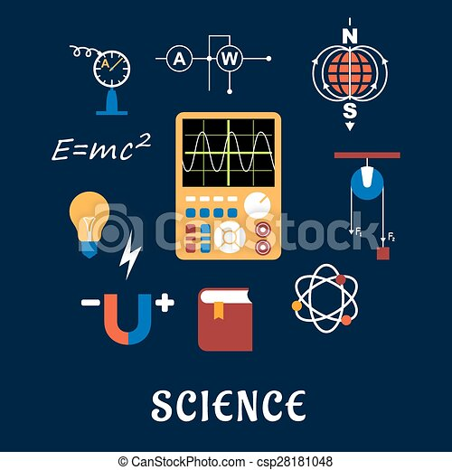 Eps vektor von wissenschaft satz physik wohnung for Meine wohnung click design download