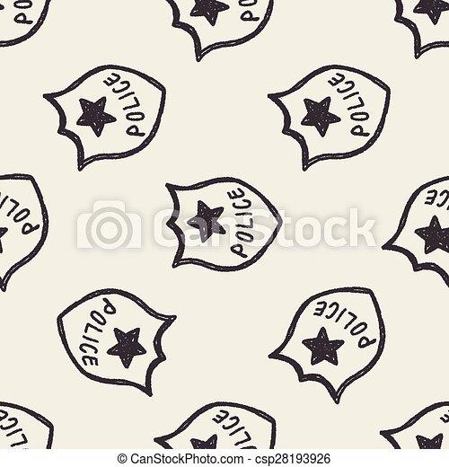 police Badge doodle - csp28193926
