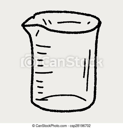Vector Clipart of Measuring cup doodle csp28196702 ...