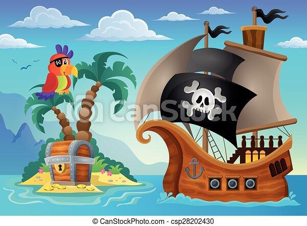 Small pirate island theme 2 - csp28202430