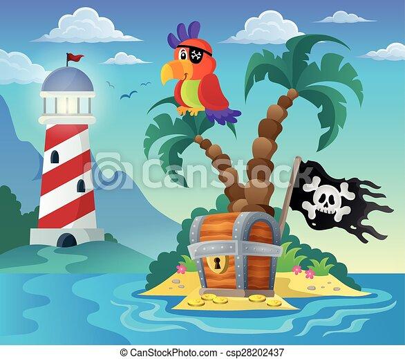 Small pirate island theme 3 - csp28202437