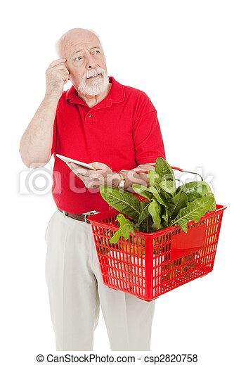 Senior Shopper - Forgetful - csp2820758