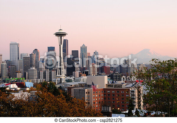 Seattle cityscape - csp2821275