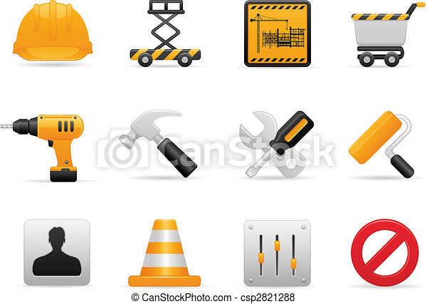 Construction Icon Set - csp2821288