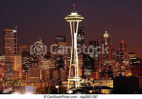 Seattle brightest at night - csp2821297