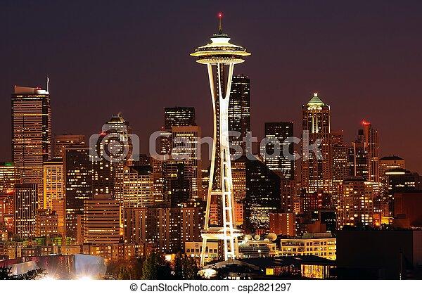 Seattle brightest at night - csp2821297