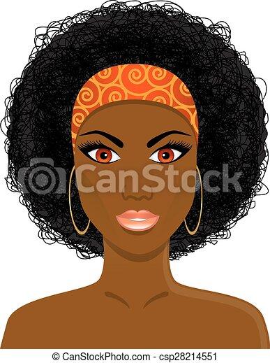 Natural Hair Face Clipart
