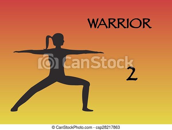 Yoga Woman Warrior 2 - csp28217863