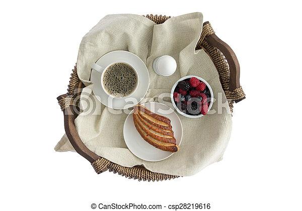 Bandejas de pequeno almoço