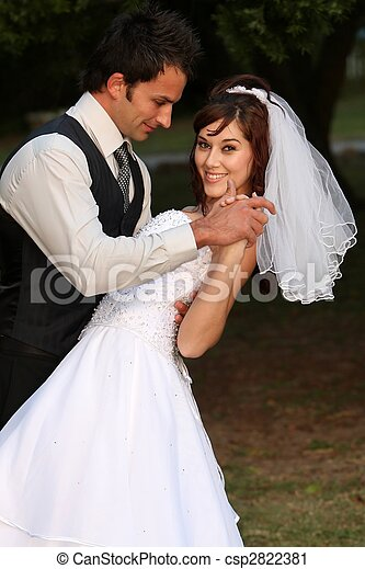 Dancing Wedding Couple - csp2822381