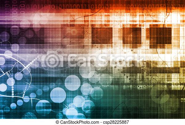 Futuristic Network - csp28225887
