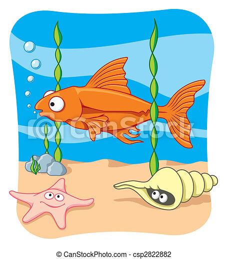 Sea life vector - csp2822882