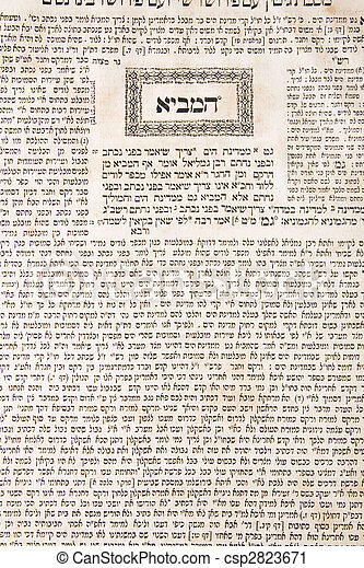 talmud sheet as a background - csp2823671