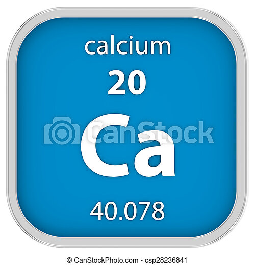 Calcium material sign - csp28236841