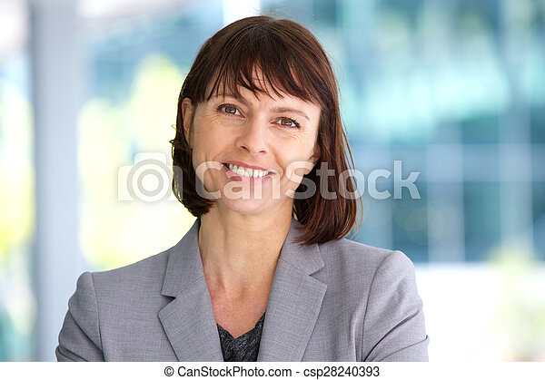 Professional business woman smiling outdoor