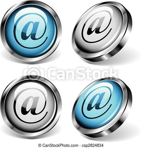 E-mail Web Buttons - csp2824834