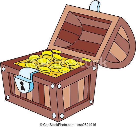 Treasure chest - csp2824916