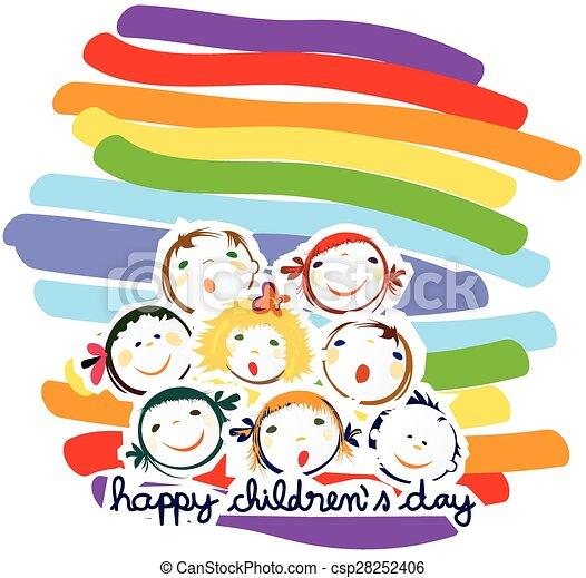 happy children - csp28252406