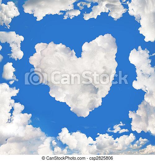 stock photo blue sky panorama as a cloud frame