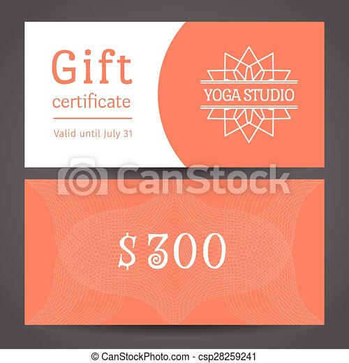 yoga gift certificate template free - eps vector of yoga studio vector gift certificate template