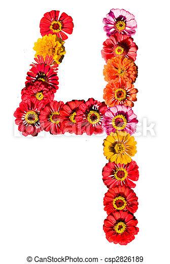 Stockfotografie von nr 4 sonnenblume freigestellt  Sunflower