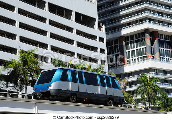 The fully automated Miami downtown train system - csp2826279