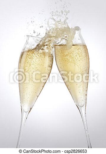 Champagne toast - csp2826653