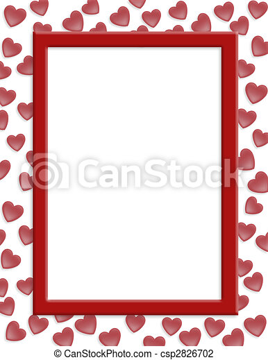 Valentines day border hearts - csp2826702