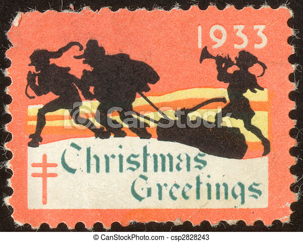 vintage postage stamp set seventy six - csp2828243