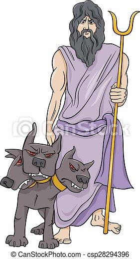 eps vectors of greek god hades cartoon illustration Hades God Hades God