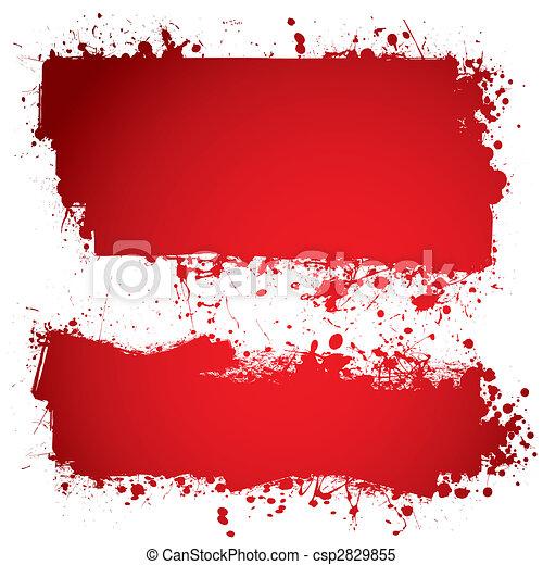 bandeira, sangue, vermelho, tinta - csp2829855