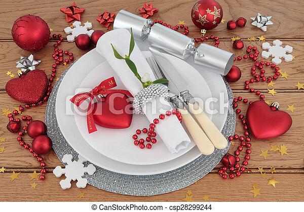Christmas Dinner Place Setting