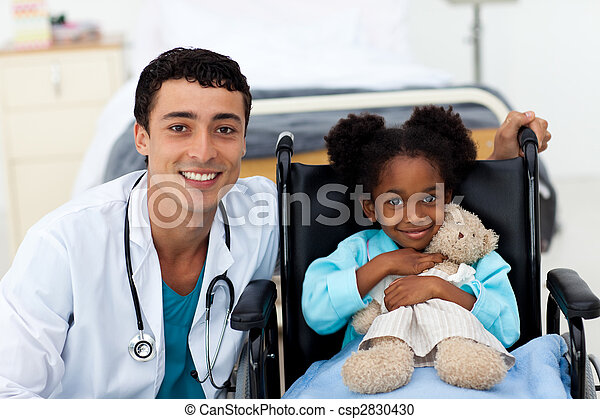 助力, 医者, 病気の 子供 - csp2830430
