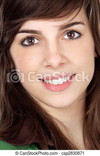 attractive adolescent girl - csp2830871