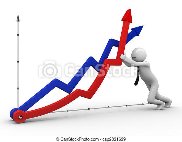 Don\'t fall, economics - csp2831639
