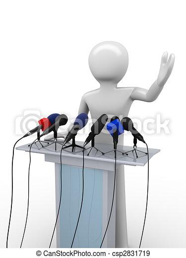 Political leader on a tribune - csp2831719