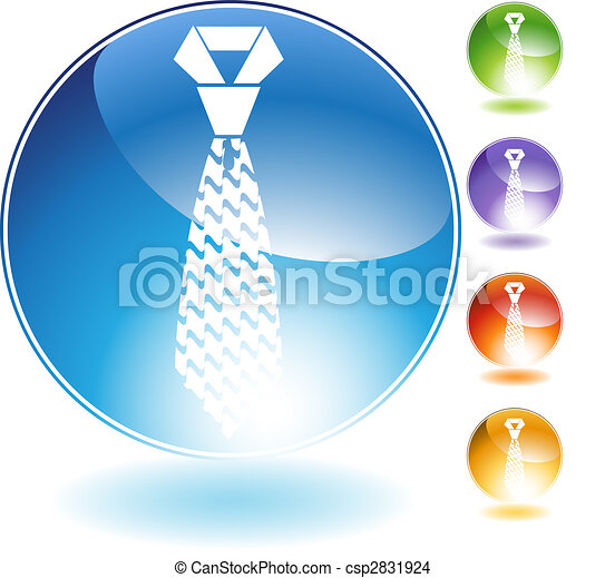 Wavy Necktie Crystal Icon - csp2831924