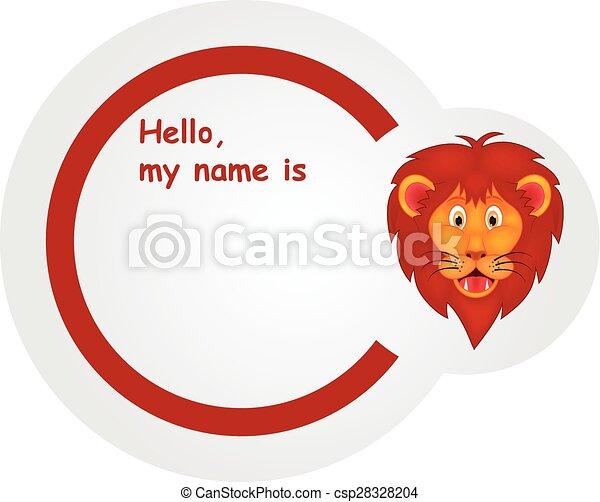 Sticker with animal design - lion - csp28328204