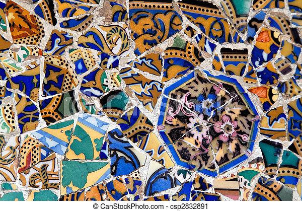 Parc Guell by Gaudi, Mercat de la Boqueria, Sagrada National Dance, Barcelona, Catalonia, Spain, Europe - csp2832891