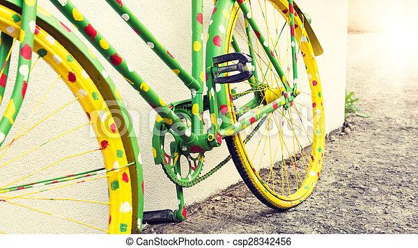 面白い, 自転車, 型 - csp28342456