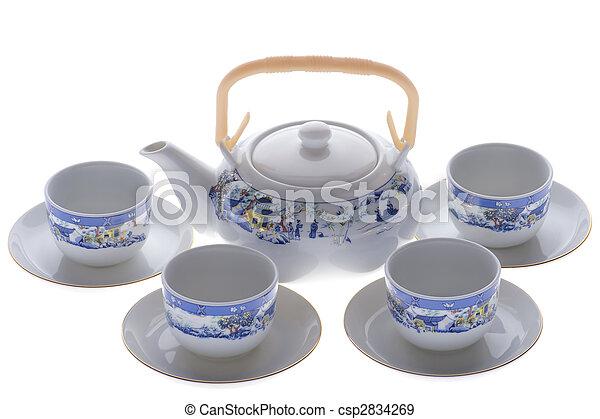 tea serviette close up - csp2834269